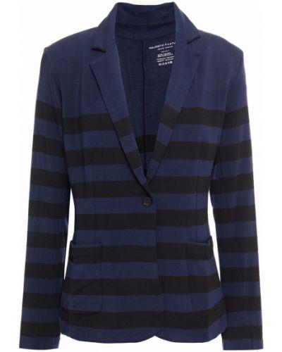 Трикотажный пиджак с карманами в полоску Majestic Filatures