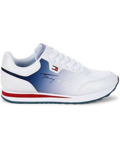 Кружевные кроссовки на шнуровке на каблуке Tommy Hilfiger