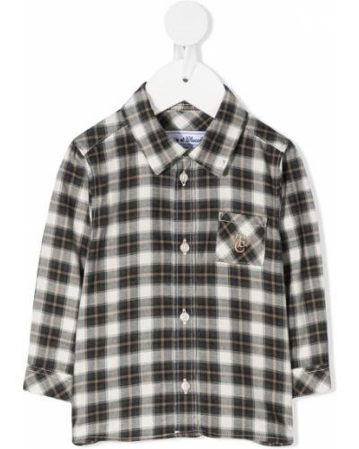 Серая рубашка с вышивкой с карманами с длинными рукавами Tartine Et Chocolat