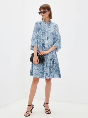Прямое платье - голубое Adzhedo