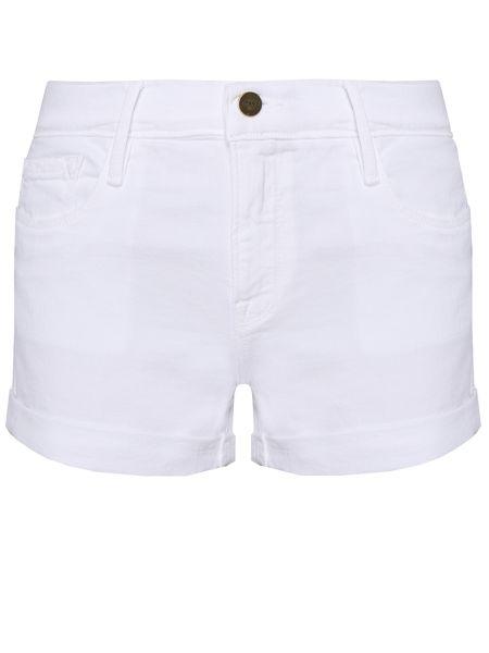 Зауженные джинсовые шорты - белые Frame
