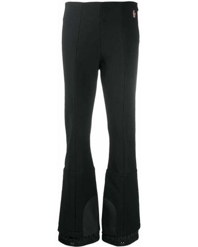 Расклешенные трикотажные черные спортивные брюки Moncler Grenoble