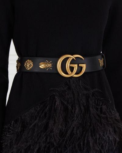 Ремень с заклепками металлический Gucci