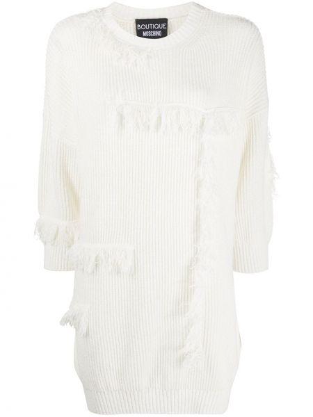 Платье с бахромой льняное Boutique Moschino