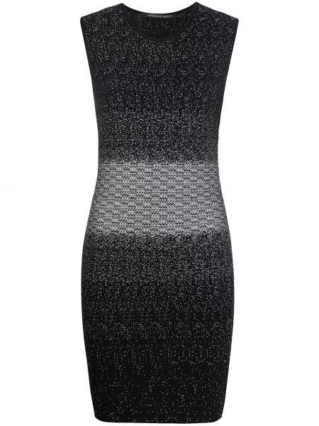 Платье с градиентом черное Antonino Valenti