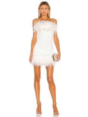Платье мини с декольте - белое Bronx And Banco