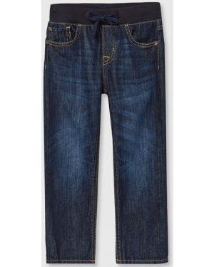 Прямые синие джинсы с поясом Ostin