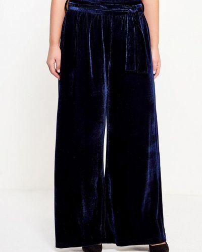 Свободные брюки бархатные синие Lost Ink Plus