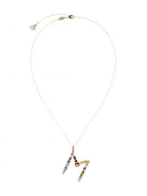Ожерелье с жемчугом золотое с подвесками Dolce & Gabbana