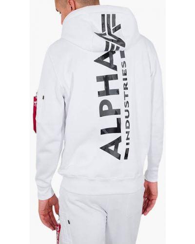 Базовая белая кофта Alpha Industries