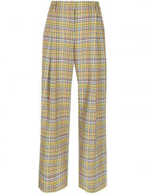 Широкие брюки - желтые Mira Mikati