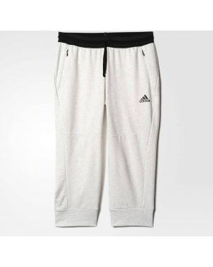 Спортивные брюки укороченные с начесом Adidas