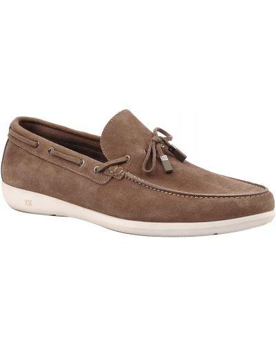 Коричневые туфли замшевые Ermenegildo Zegna