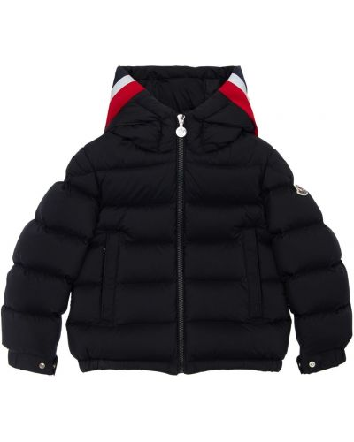 Nylon czarny kurtka z kieszeniami Moncler