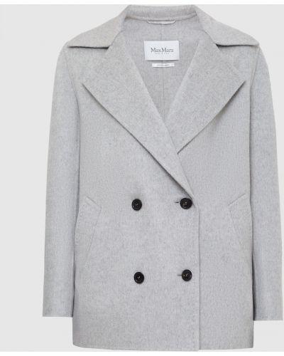 Кашемировое пальто - серое Max Mara