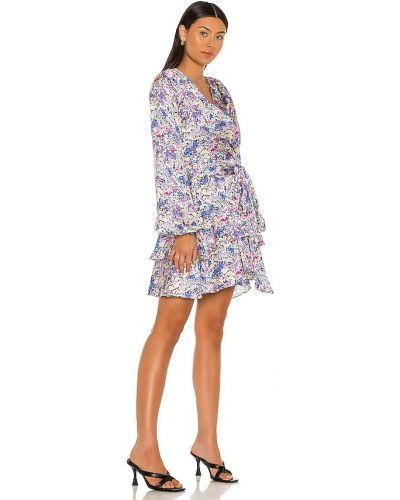 Фиолетовое свободное деловое платье Elliatt