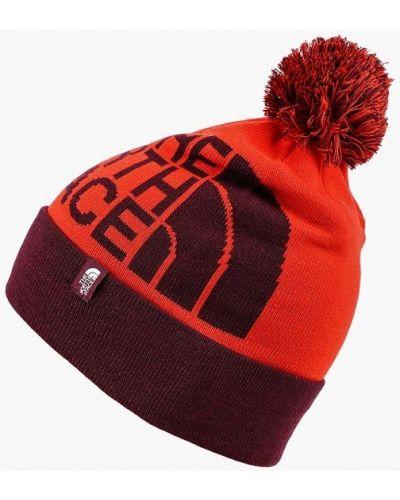 Оранжевая шапка осенняя The North Face