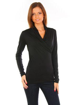 Блузка из вискозы - черная Cerruti 18crr81