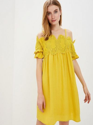 Платье с открытыми плечами весеннее Silvian Heach