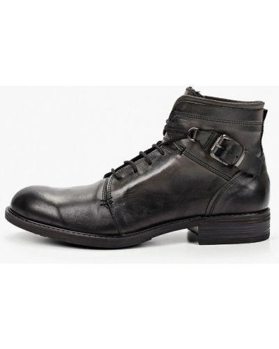 Серые кожаные ботинки Pazolini