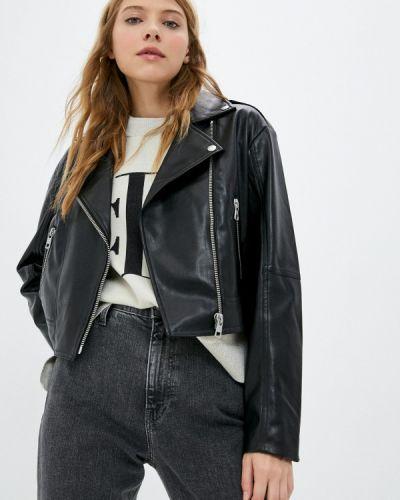 Кожаная куртка - черная Calvin Klein Jeans