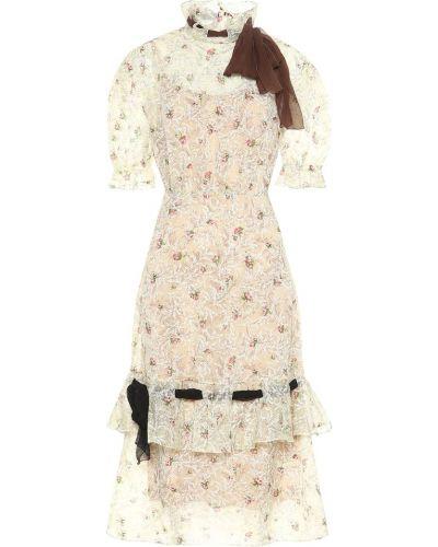 Платье миди - белое Miu Miu