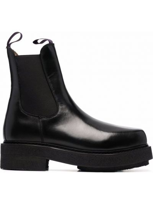 Кожаные ботинки челси - черные Eytys