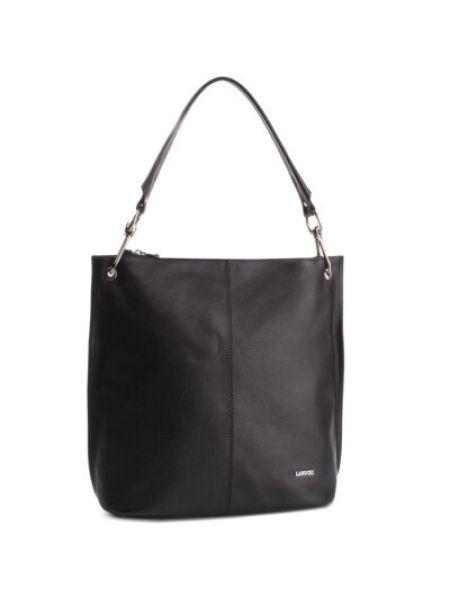 Czarna torebka skórzana Lasocki