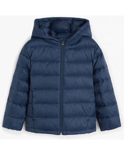 Куртка теплая синий Mango Kids