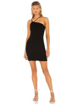 Черное кашемировое вечернее платье с декольте Enza Costa