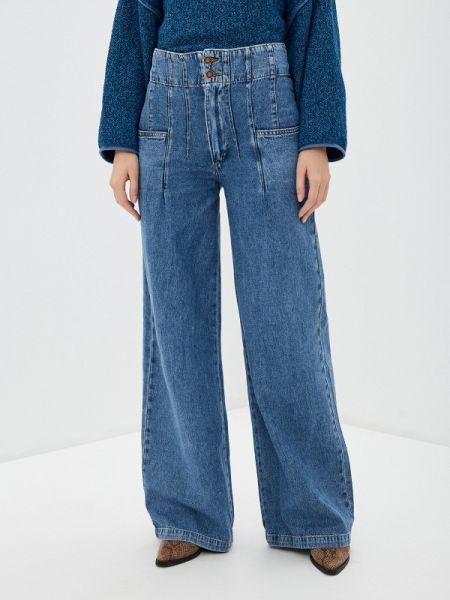 Широкие джинсы расклешенные синие Free People