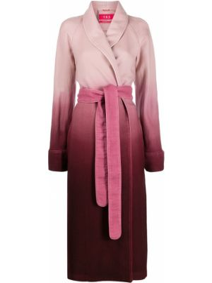 Розовое шерстяное длинное пальто с капюшоном F.r.s For Restless Sleepers