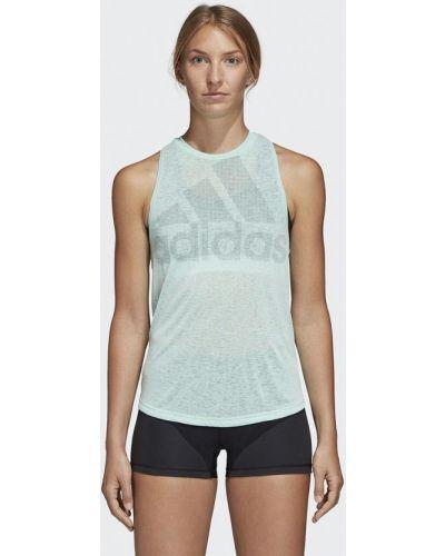 Бирюзовая майка спортивная Adidas