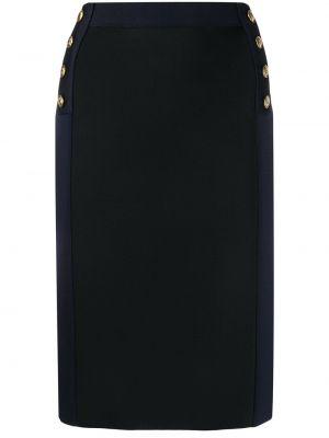 Złota czarna spódnica mini z wysokim stanem Givenchy