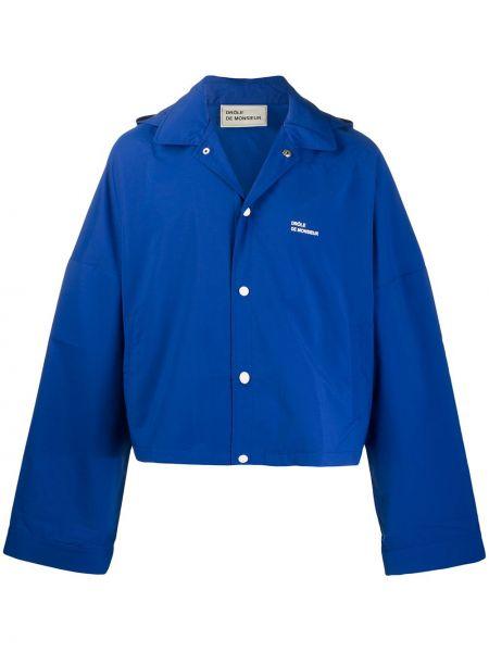 Klasyczna niebieska kurtka z kapturem Drole De Monsieur