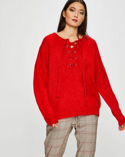 Sweter przeoczenie z moheru z wzorem Medicine