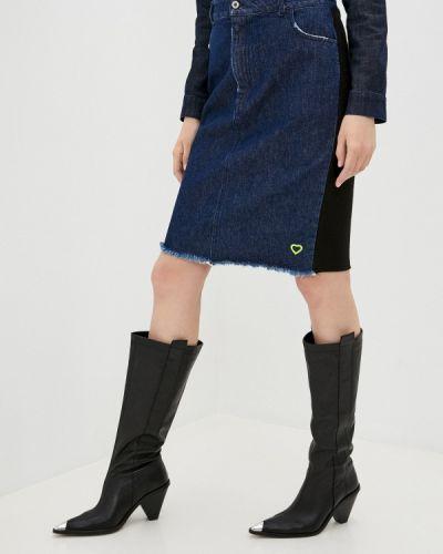 Джинсовая юбка - синяя Please