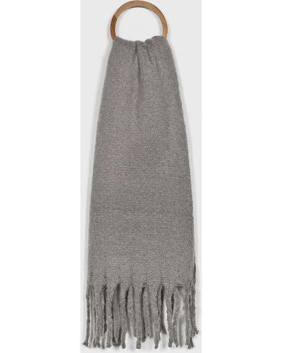 Шарф с бахромой серый Answear