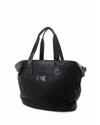 Кожаная дорожная сумка - черная David Jones