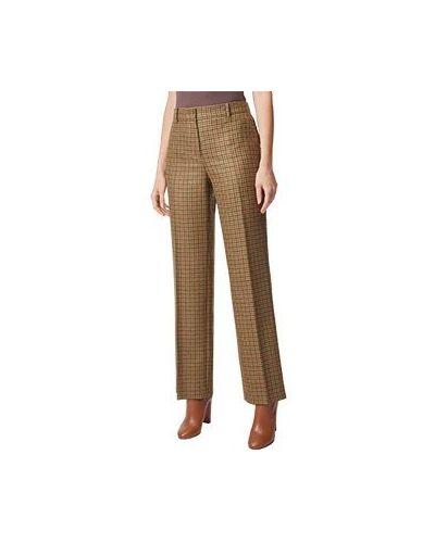 Прямые шерстяные коричневые брюки Luisa Spagnoli