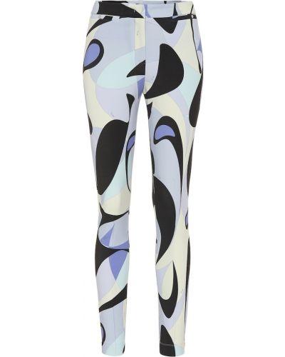 Деловые фиолетовые брюки с воротником Emilio Pucci