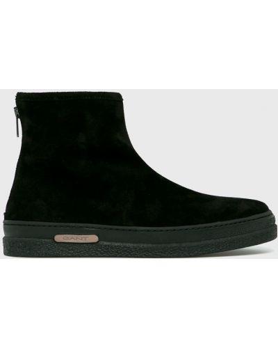 Кожаные ботинки высокие замшевые Gant