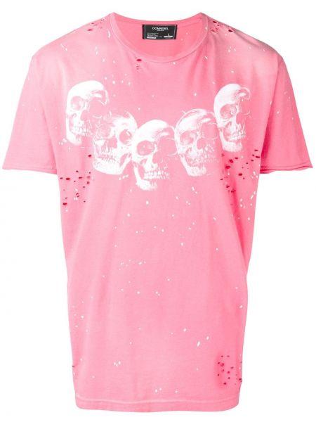 Koszula krótkie z krótkim rękawem z nadrukiem z czaszkami Domrebel
