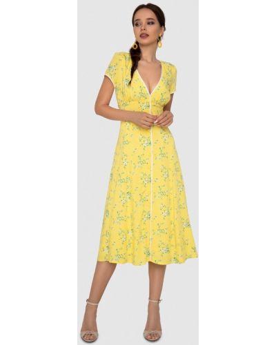 Платье с запахом - желтое Anushka By Anna Pavlova