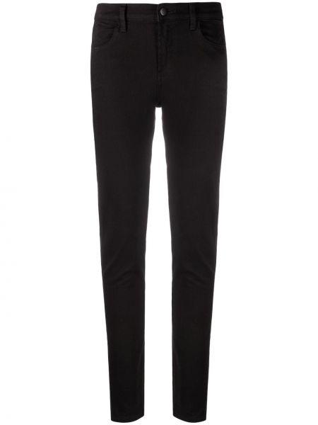 Хлопковые облегающие черные джинсы-скинни J Brand