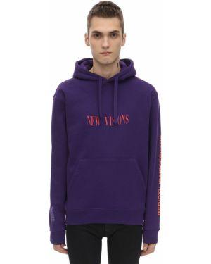 Prążkowana fioletowa bluza z kapturem Darkoveli