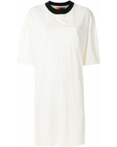 Свободное белое платье мини свободного кроя Osklen