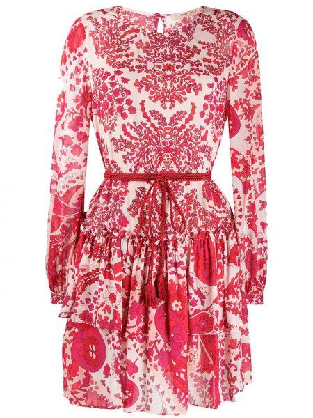 Платье красный с оборками Twin-set