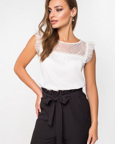 Блузка с коротким рукавом белая Itelle