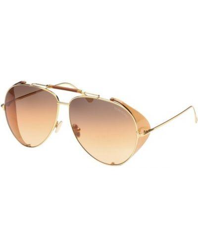 Żółte okulary Tom Ford